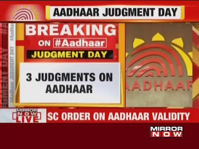 SC upholds validity of Aadhaar; Aadhaar empowers marginalised section of society