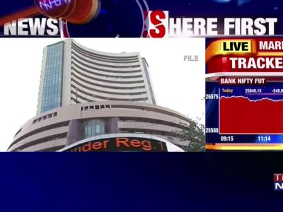 Sensex crashes 1,100 points in intra-day trading amid volatile cues