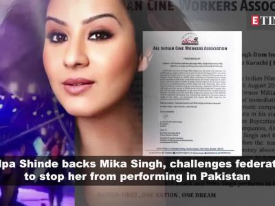Shilpa Shinde backs Mika Singh, challenges federation to stop her from going to Pakistan
