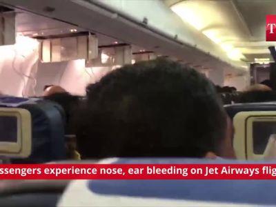 Shocking! Passengers experience nose, ear bleeding on Jet Airways flight