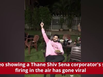 Shocking! Thane corporator's son caught firing in air, video goes viral
