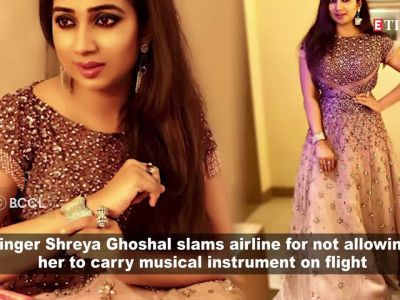 Shreya Ghoshal lashes out at airline for not allowing a musical instrument on flight, fans support her