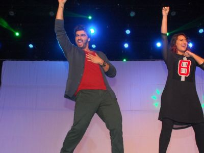 Sonakshi, Arjun perform live for IIT students