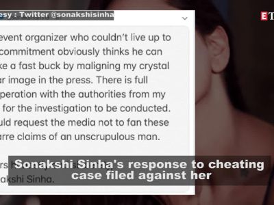Sonakshi Sinha responds to alleged cheating case, terms it 'bizarre claims of an unscrupulous man'