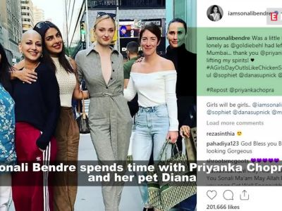 Sonali Bendre thanks Priyanka Chopra for lifting her mood up in the absence of husband Goldie Behl