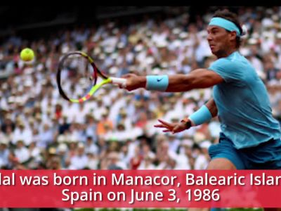 Spanish tennis player Rafael Nadal turns 33