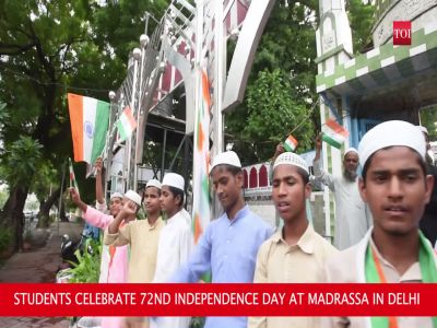 Students celebrate 72nd Independence Day, sing 'Saare Jahan Se Accha' in Delhi's madrassa