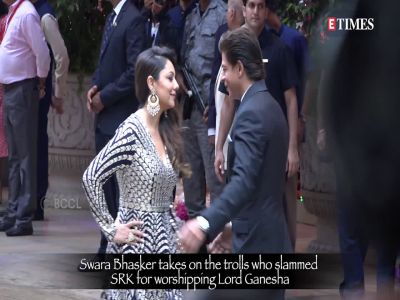 Swara Bhasker's epic reply to trolls who slammed Shah Rukh Khan for celebrating Ganesh Chaturthi