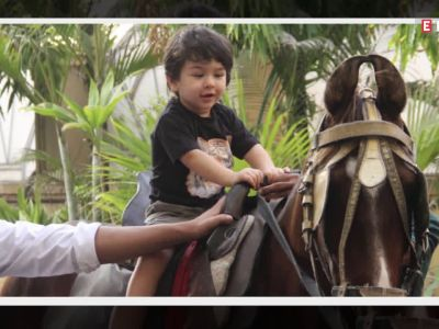 Taimur Ali Khan looks adorable as he rides a horse