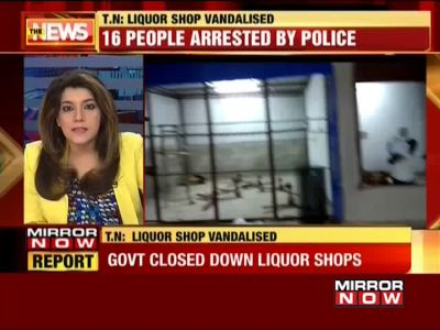 Tamil Nadu: Villagers vandalise govt owned liquor shop, 16 arrested