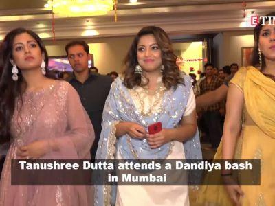 Tanushree Dutta spotted at a Dandiya event