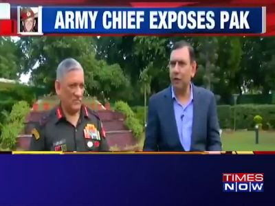Terrorism and peace talks can't take place together: General Bipin Rawat, Army Chief