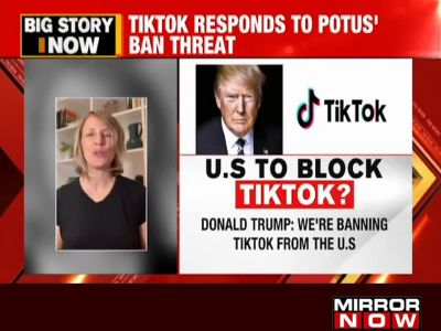 TikTok responds to Trump's ban threat, says they are 'here for the long run'