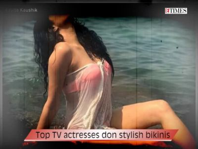 Top TV actresses don stylish bikinis