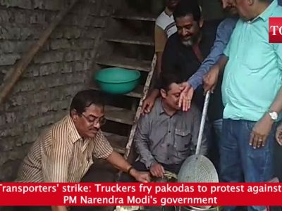 Transporters' strike: Truckers fry pakodas to protest against PM Narendra Modi's government
