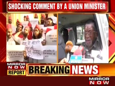 Union minister's controversial remark on rapes