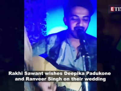 Unwell Rakhi Sawant dedicates a song for Deepika Padukone and Ranveer Singh on their wedding