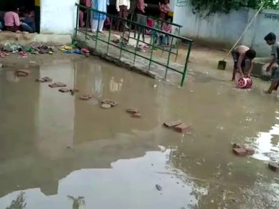 UP: BSA orders probe after students made to clear waterlogged school premises in Agra