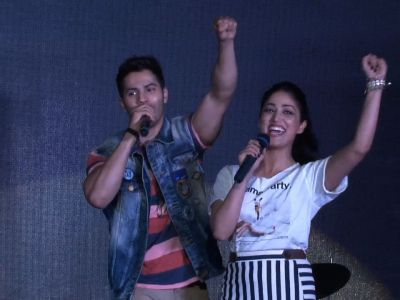 Varun, Yami Gautam perform live for students