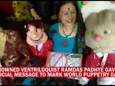 Ventriloquist gives social message through puppets, asks people not to use plastic
