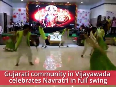 Vijayawada: Gujaratis celebrate Navratri with traditional Garba and Dandiya