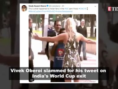 Vivek Oberoi tweets on India's World Cup exit, gets brutally trolled; Sunny Leone's son gets mistaken for Taimur, and more…
