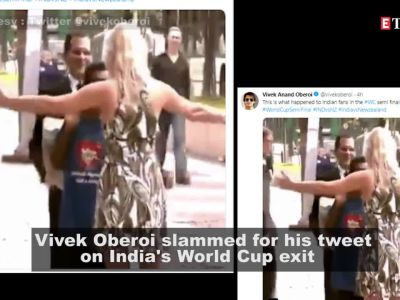 Vivek Oberoi tweets on India's World Cup exit, gets brutally trolled