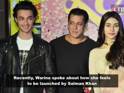 Warina Hussain on being launched by Salman Khan: He is my real-life hero