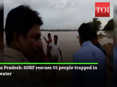 Watch: 55 people trapped in flood water rescued by SDRF