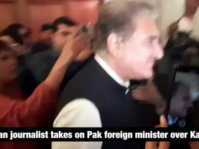 Watch: Indian journalist takes on Pak foreign minister over Kashmir