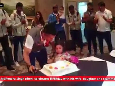 Watch: Mahendra Singh Dhoni celebrates birthday with teammates