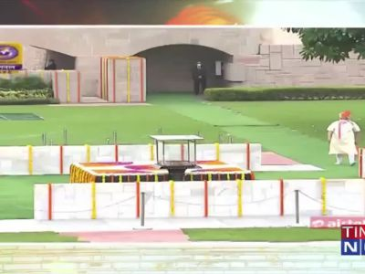 Watch: PM Narendra Modi reaches Raj Ghat to pay homage to Mahatma Gandhi