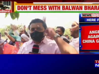 Watch: Protest outside Chinese Embassy in Delhi