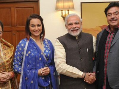 Watch Sonakshi Sinha meets PM Narendra Modi
