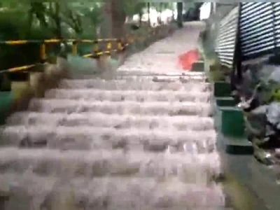 Watch: Suruli Falls in the Theni district overflows due to Kerala Monsoon