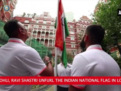 Watch: Virat Kohli hoists tricolour in London