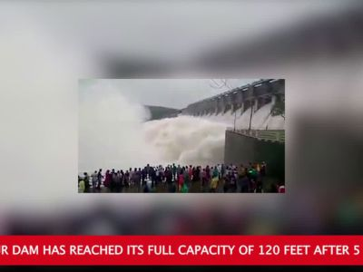 Watch: Water released from Mettur dam as it reaches full capacity after 5 years