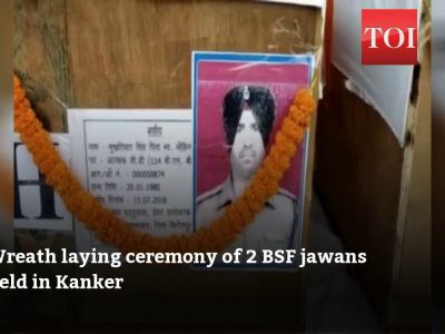 Watch: Wreath laying ceremony of 2 BSF personnel held in Kanker