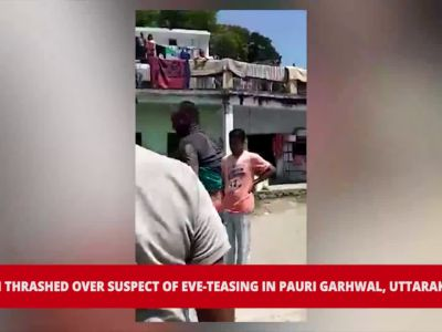 Watch: Youth beaten-up mercilessly over suspicion of eve-teasing in Pauri Garhwal