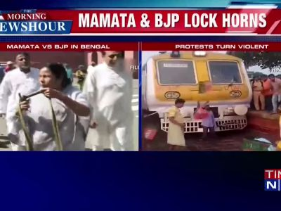West Bengal bandh: Protests turn violent; buses vandalised, train tracks blocked