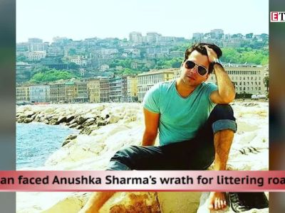 Who is the man in Anushka's litter video?